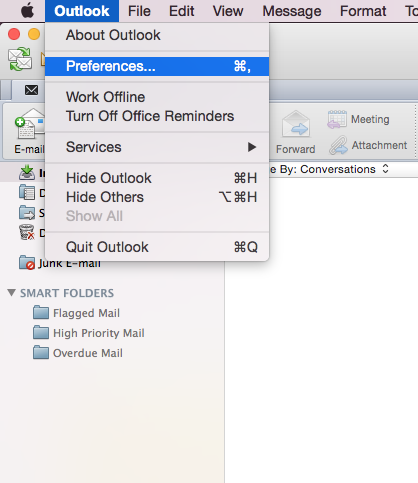 OSX: Outlook 2011 (IMAP)